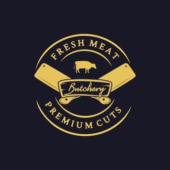 Logotipo de carnicería premium