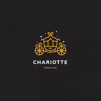 Logotipo de carro dorado.