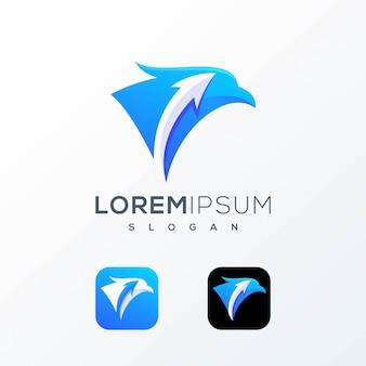 Logotipo de la carta del pájaro