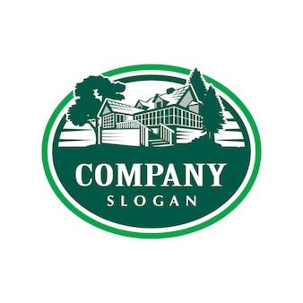 Logotipo de la casa de cabina vintage