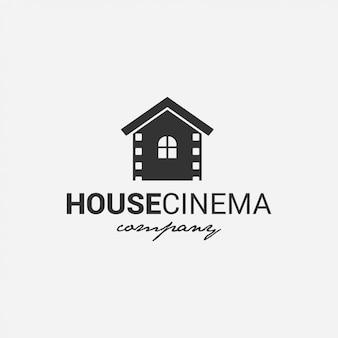 Logotipo de la casa cine película, cine, director, compañía de televisión