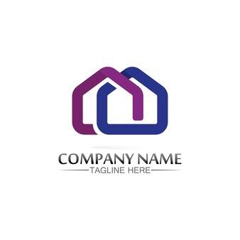 Logotipo de la casa del edificio, logotipo de la casa