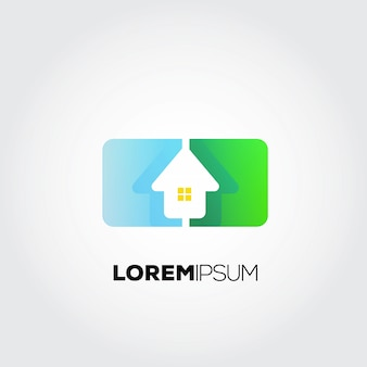 Logotipo de la casa futurista