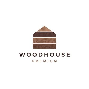 Logotipo de la casa de madera