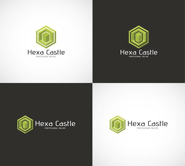 Logotipo del castillo de hexa