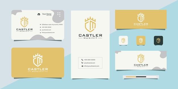 Logotipo del castillo y tarjeta de visita.