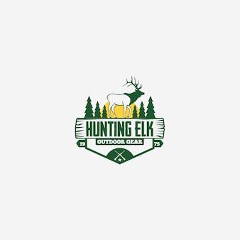 Logotipo de caza elk