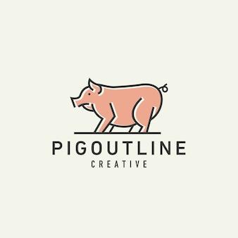 Logotipo de cerdo
