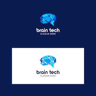 Logotipo de cerebro inteligente