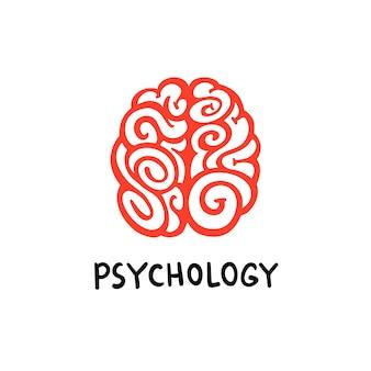 Logotipo del cerebro de psicología