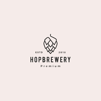 Logotipo de la cervecería de la cerveza hop