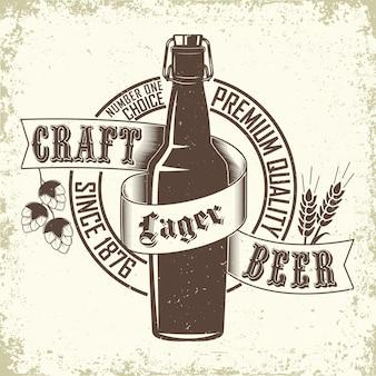 Logotipo de cervecería vintage
