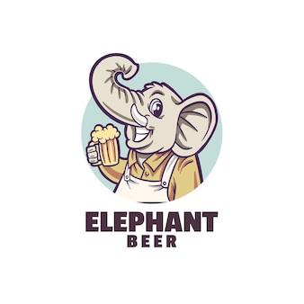 Logotipo de cerveza de sonrisa de elefante