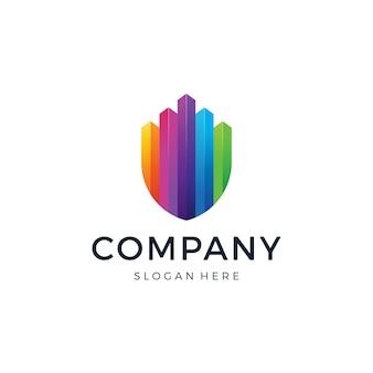 Logotipo de chart shield