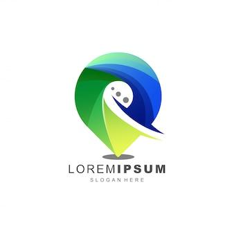 Logotipo de chat abstracto