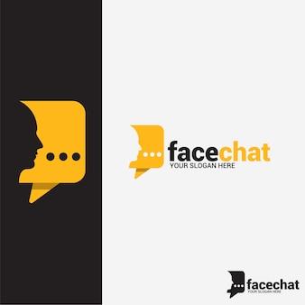 Logotipo de chat de cara