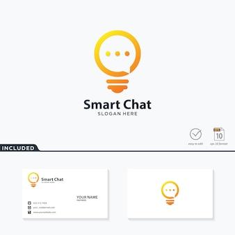 Logotipo de chat inteligente
