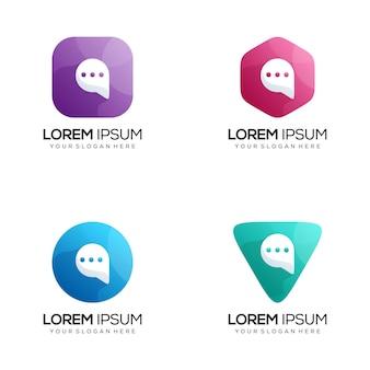 Logotipo de chat moderno