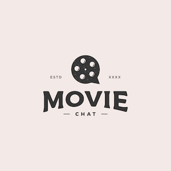 Logotipo de chat de película