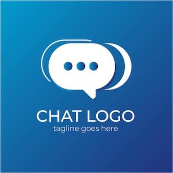 Logotipo de chat simple o logotipo de conversación
