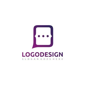 Logotipo de chat web