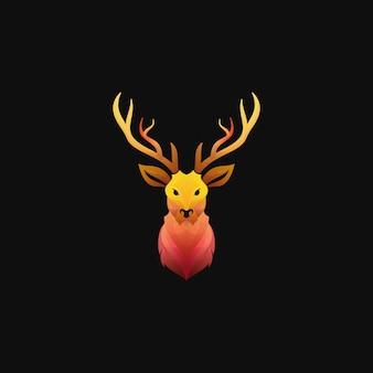 Logotipo de ciervo degradado colorido moderno