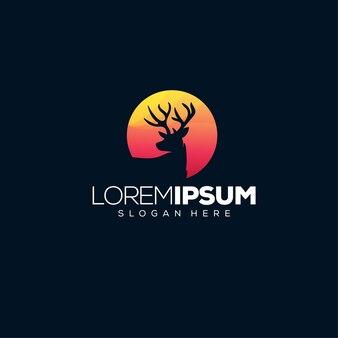 Logotipo de ciervo salvaje