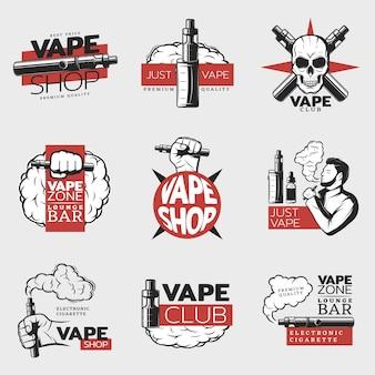 Logotipo de cigarrillo electrónico colorido