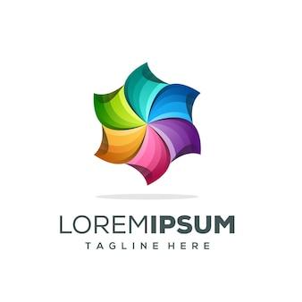 Logotipo de circle media listo para usar
