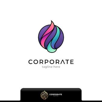 Logotipo de círculo de fuego aislado en blanco