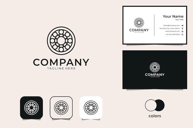 Logotipo de círculo de geometría y tarjeta de visita.