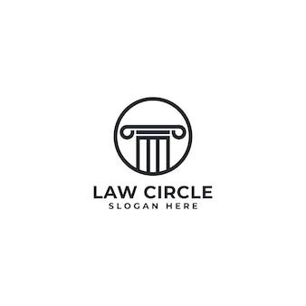 Logotipo del círculo de la ley