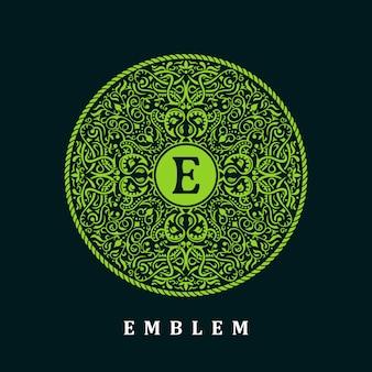 Logotipo de círculo verde