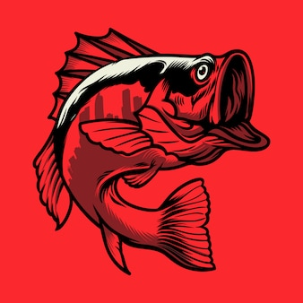 Logotipo de la ciudad de pescado