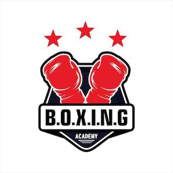 Logotipo del club de campeones de boxeo de la academia de lucha