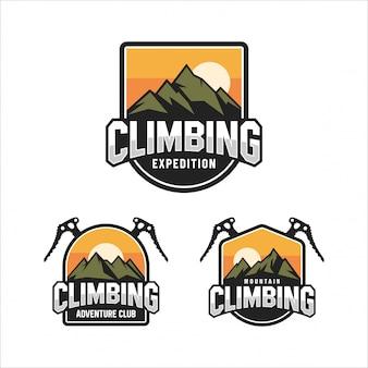 Logotipo del club climbing mountain adventure