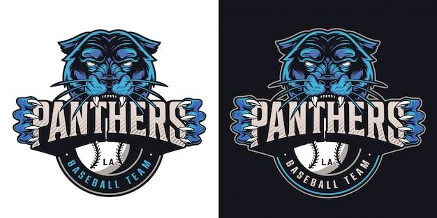 Logotipo del club deportivo de béisbol vintage