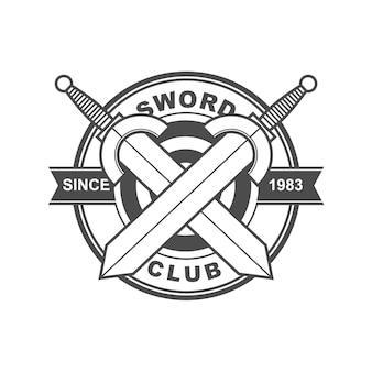 Logotipo del club de la espada
