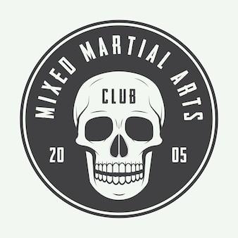 Logotipo del club de lucha, emblema