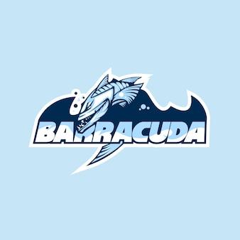 Logotipo de un club o empresa con el nombre barracuda.