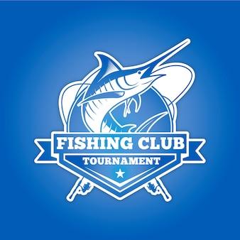 Logotipo del club de pesca para torneo