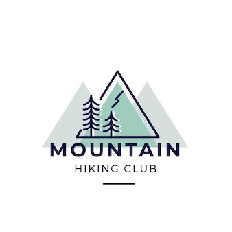 Logotipo del club de senderismo de montaña