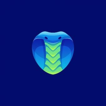 Logotipo de cobra de colores modernos