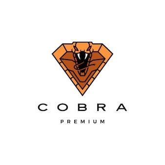 Logotipo de cobra en forma de diamante