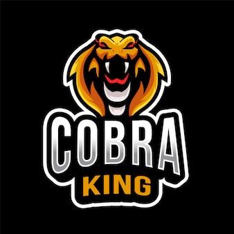 Logotipo de cobra king esport