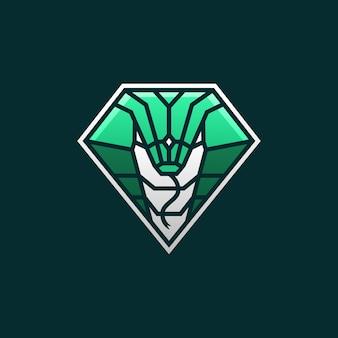 Logotipo de cobra snake e sport