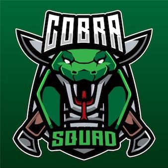Logotipo de cobra squad