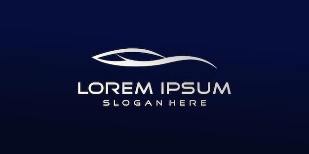 Logotipo de coche abstracto minimalista vector premium