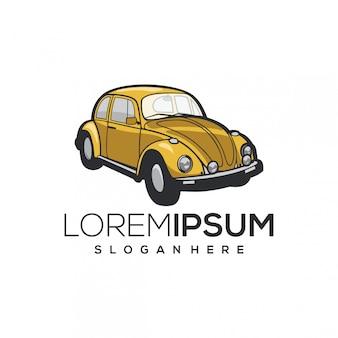 Logotipo de coche amarillo