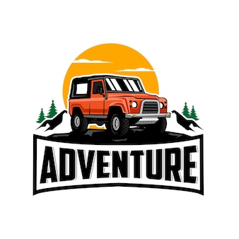 Logotipo de coche de aventura